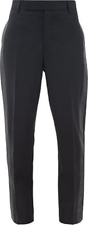 Rick Owens Side-stripe Slim-leg Crepe Trousers - Womens - Black