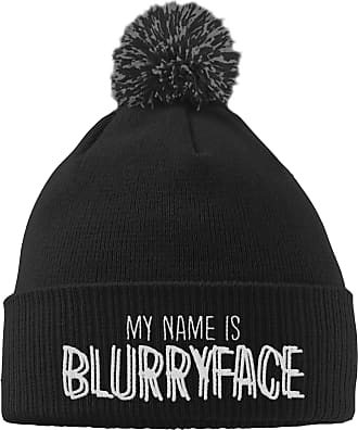 HippoWarehouse My Name is Blurryface Embroidered Beanie Hat with Bobble Black