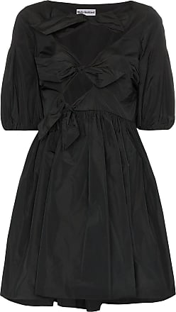 MOLLY GODDARD Natasha bow-detail mini dress - Black