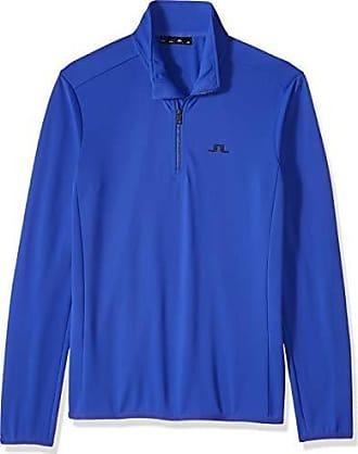 J.Lindeberg Mens Half Zip Midlayer Jacket, Daze Blue, Medium