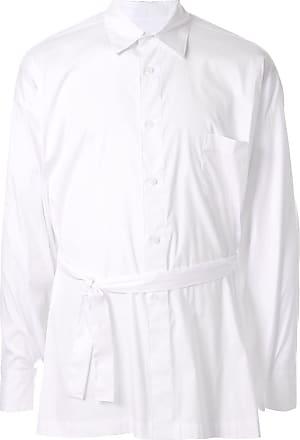 Fumito Ganryu Camisa com amarração na cintura - Branco