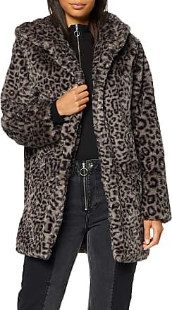 Urban Classics Womens Ladies Teddy Coat, Multicolour (Grey Leo 02064), 4X-Large