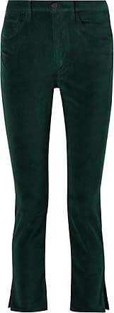 3x1 W3 Higher Ground Stretch-cotton Velvet Slim-leg Pants - Emerald
