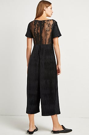 French Connection Sarelle Ottoman Velvet Jersey Jumpsuit