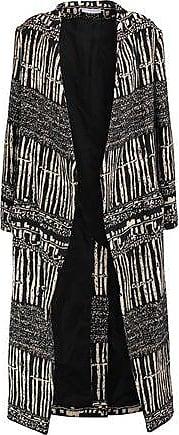Iro Iro Woman Emy Cotton-blend Jacquard Coat Black Size 34