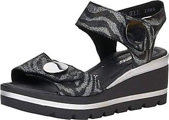 Remonte Women Sandals, Ladies Wedge Sandals,Wedge Sandals,Summer Shoes,Comfortable,high,Schwarz / 02,41 EU / 7.5 UK