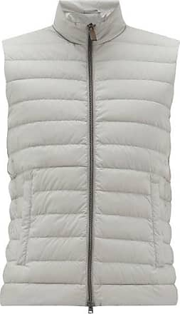 Herno Quilted-down Gilet - Mens - Grey