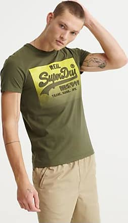 Superdry T-shirt con logo Vintage a mezzitoni goffrato