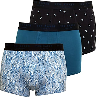 Ted Baker Mens London 3 Pack Cotton Stretch Patterned Trunk Multi Large