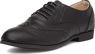 Truffle Eliz77 Womens Black Lace Up Brogue - Size 5 UK - Black