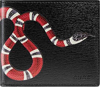 Gucci Portafoglio in pelle con stampa serpente