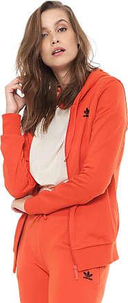 adidas Originals Moletom Aberto adidas Originals Zip Hoodie Laranja