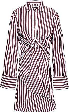 70bc76823f20dd Marques Almeida Marques Almeida Woman Twist-front Cutout Striped  Cotton-poplin Mini Shirt Dress