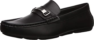 Calvin Klein Mens Maddix Driving Style Loafer, Black Leather, 10.5 UK Wide