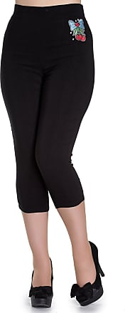 Banned Hell Bunny Anna 50s Capri Trousers (M - UK 12)
