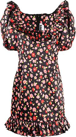 Rotate Vestido com mangas bufantes e estampa floral - Preto