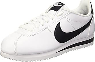 huge selection of 5271c d6fae Nike Classic Cortez Leather, Chaussures de Running Compétition Femme, Blanc  (Black White