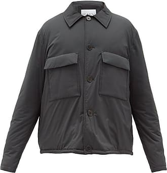 Raey Drawstring-hem Wadded Cagoule Jacket - Mens - Dark Green
