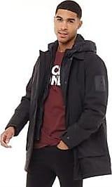 Jack & Jones lightly padded parka jacket with detachable hood