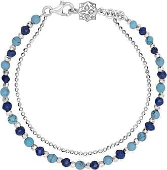 Dower & Hall Turquoise & Lapis Lazuli Bead Orissa Bracelet