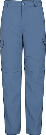 Mountain Warehouse Explore Convertible Mens Trousers - Fast Dry, Fade Resistant Summer Trousers, Knee Zips Cargo Trousers, Stretch Casual Bottoms -for Walking, Hiking Bl