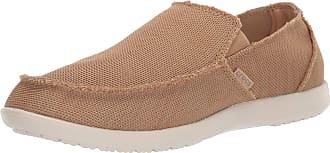 Crocs Mens Santa Cruz Downtime Slip On Loafer|Casual, Comfortable Travel Shoe, Tan/Tan, 14 UK