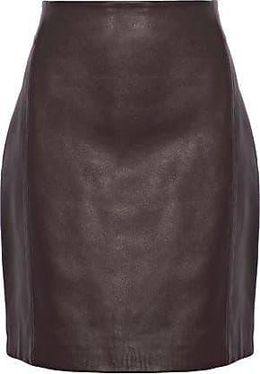 d00fdc75b Iro Iro Woman Donkin Leather Mini Skirt Dark Brown Size 36