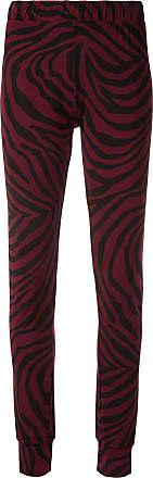Layeur Calça com estampa de zebra - Vermelho