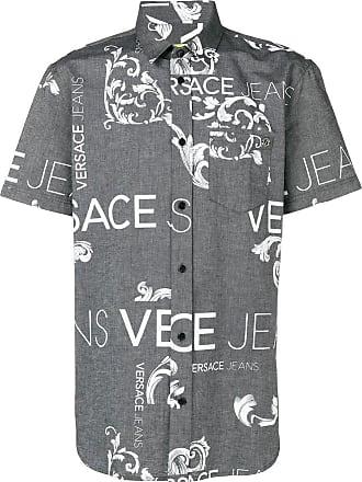 Versace Jeans Couture Camisa com logo - Preto