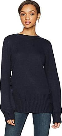 EVIDNT Womens Two Tone Colorblock Long Sleeve Knit TOP Blue M