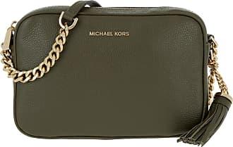 Michael Kors Ginny MD Camera Leather Bag Olive
