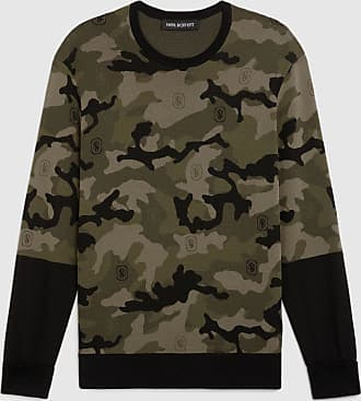 Neil Barrett Star Monogram Camo Techno Knit Jumper