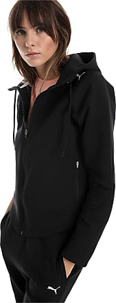 Puma Evostripe Move Zip-Up Womens Hoodie, Cotton Black, size X Large, Clothing