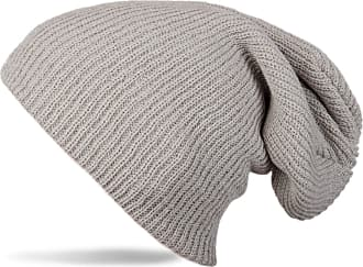 styleBREAKER Beanie, Slouch, Long Knitted hat, Double Knitted 04024004, Color:Light Grey