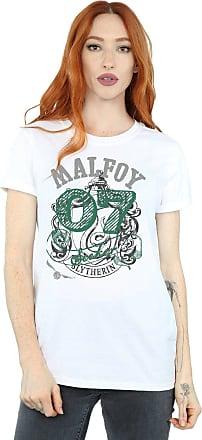 Harry Potter Womens Draco Malfoy Seeker Boyfriend Fit T-Shirt Medium White