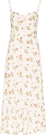 Reformation Slip dress com estampa floral Emersyn - Branco