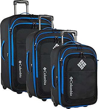 Columbia 3 Piece Expandable Spinner Luggage Set, Black/Dark Blue