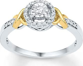 Kay Jewelers Diamond Promise Ring 1/6 carat tw Sterling Silver/10K Gold