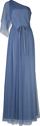 Marchesa one shoulder bridesmaid gown - Blue