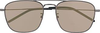 Saint Laurent Eyewear Óculos de sol quadrado SL309 - Metálico