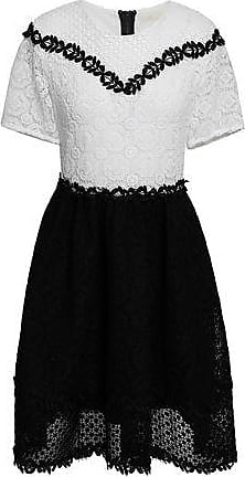 4c9fb3393213 Maje Maje Woman Two-tone Guipure Lace Mini Dress Black Size 2