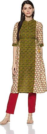 Aurelia Womens Pleated Kurta (18AUA10049-100009_Multicolor_Small)
