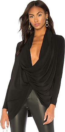 Norma Kamali Wrap Cardigan in Black