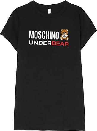 819c5c99715 Moschino Robe En Jersey De Coton Stretch Imprimée - Noir