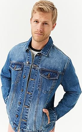21 Men Button-Front Denim Jacket at Forever 21 Dark Denim