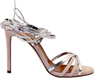 PARIS TEXAS Fashion Woman PX205SILVER Silver Leather Sandals | Spring Summer 20