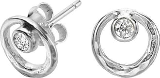 Dower & Hall Open Circle White Topaz Dewdrop Studs