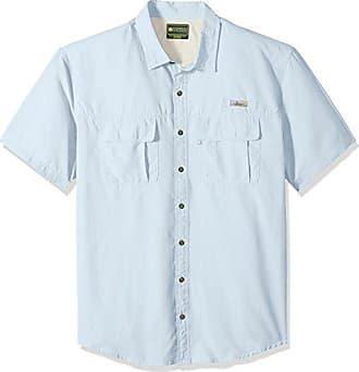 b240c63c900 G.H. Bass & Co. Mens Big and Tall Explorer Short Sleeve Point Collar  Fishing Shirt