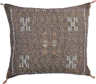 Benisouk Brown Cactus silk Sabra Pillow
