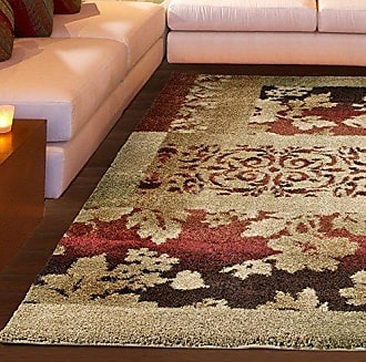 Orian Rugs Wild Weave Ogletree Rouge Area Rug, 53 x 76, Red